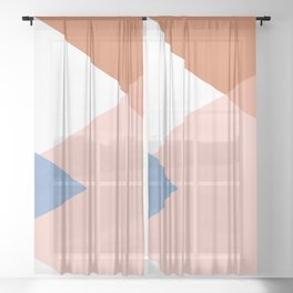 Geometrics - moroccan sky Sheer Curtain