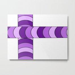 Blunt, in purple Metal Print