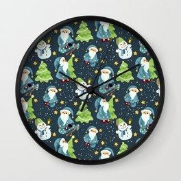 Christmas Winter Pattern Wall Clock