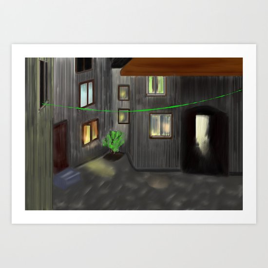 Old quarters 2 - free shipping Art Print