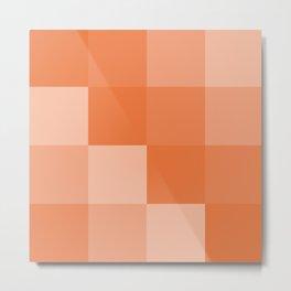 Four Shades of Orange Square Metal Print