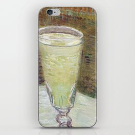 Café table with absinth iPhone Skin