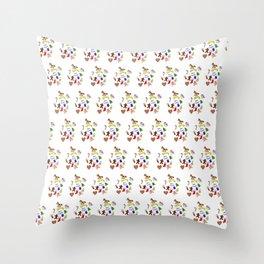Christmas doodle pattern Throw Pillow