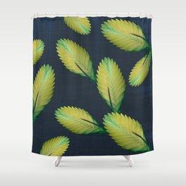 Tillandsia in dark blue Shower Curtain