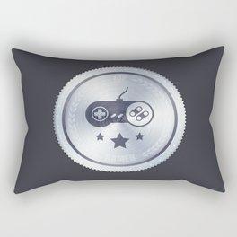 Top Gamer Metal Badge Rectangular Pillow