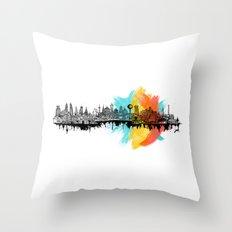 Long City Throw Pillow