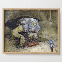 """The Boy Who Was Never Afraid"" by John Bauer Serving Tray"