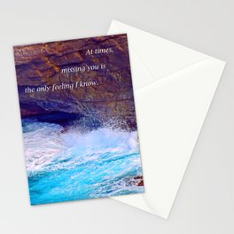 """Kauai's Land's End #9"" with poem: At Times Stationery Cards"