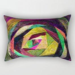 Quilted Rose Rectangular Pillow