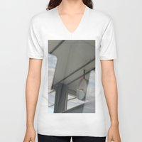 copenhagen V-neck T-shirts featuring Copenhagen Metro reflection by RMK Creative