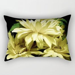 Yellow Chrysanthemum  Aster Flowers Rectangular Pillow