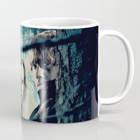 hermione Mugs featuring H. Potter - Hermione & Ron by Juniper Vinetree