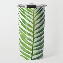 Watercolor palm leaf Travel Mug