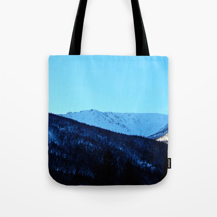 White Peaks Tote Bag