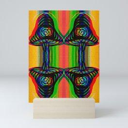 Shroom Spirals Mini Art Print