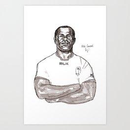 Rugby World Cup 2015 Portraits : Fiji - Niki Goneva (Sepia) Art Print