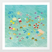 sea fish Art Print