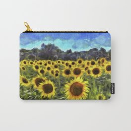 Sunflower Fields Of Dreams Van Goth Carry-All Pouch
