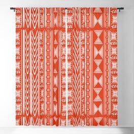 Boho Mud Cloth (Coral) Blackout Curtain