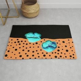 Blue poppies S55 Rug