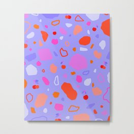 Sweet Terrazzo Cherries Metal Print