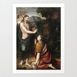 Callisto Square   1500 - 1561   NOLI ME TANGERE Art Print