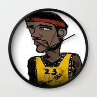 basketball Wall Clocks featuring Basketball  by JBLITTLEMONSTERS