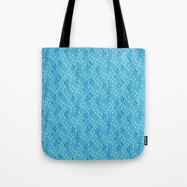 Abstract Tiny Geo Triangles on Blue Tote Bag