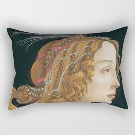 Sandro Botticelli's old Renaissance portrait Rectangular Pillow