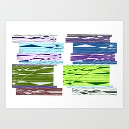 Parallel Intersection Art Print