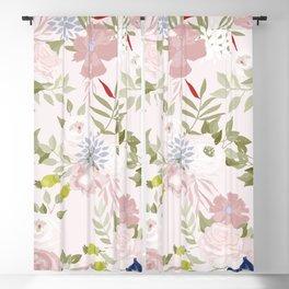 Watercolour Flower Pattern Blackout Curtain