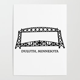 Duluth, MN Aerial Lift Bridge Poster