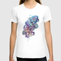 octopus T-shirts featuring octopus  by Laura Graves