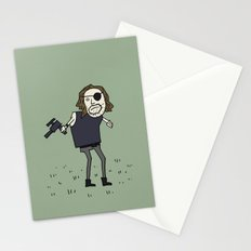 Sad Snake Plissken In A Field Stationery Cards