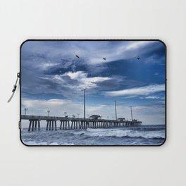 Jennette's Pier at Dusk, Nags Head, North Carolina, Outer Banks OBX  Laptop Sleeve