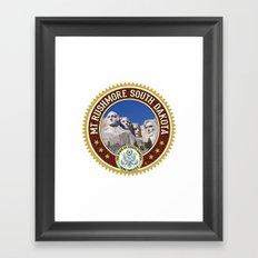 Mt. Rushmore Framed Art Print