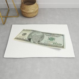 Donald Trump on a One Hundred Dollar Bill Rug