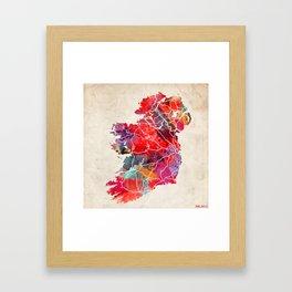 Ireland map painting square Framed Art Print