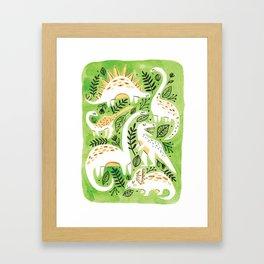 Dinosaur Forest Framed Art Print