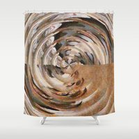 history Shower Curtains featuring History Repeating by tastypaper