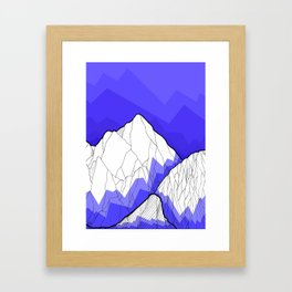 The Deep Blue Hills Framed Art Print
