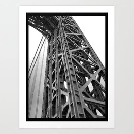 driving under the washington bridge Art Print