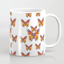 MONARCH BUTTERFLY WHITE COLLAGE Coffee Mug