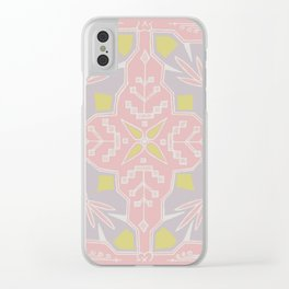 Tribal Square Clear iPhone Case