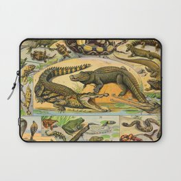 Reptiles Chart Nature Vintage Snake Turtle Alligator Laptop Sleeve
