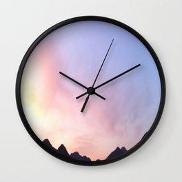 Kumano River Sunset Wall Clock