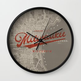 Milwaukee Map Wall Clock