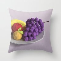 fruit Throw Pillows featuring Fruit by CharismArt