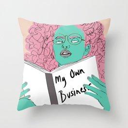 Mindful Business Throw Pillow