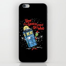 How The Grinch Stole Dr Who (on Dark) iPhone Skin